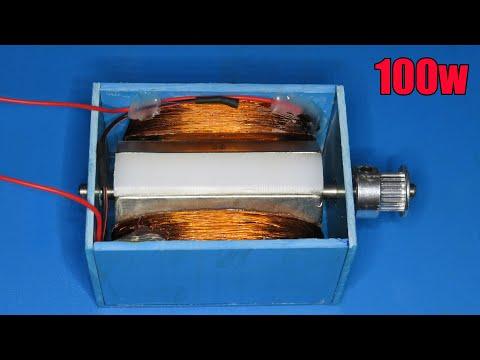How to make 50V /100W generator | DIY 100W Dynamo 2020