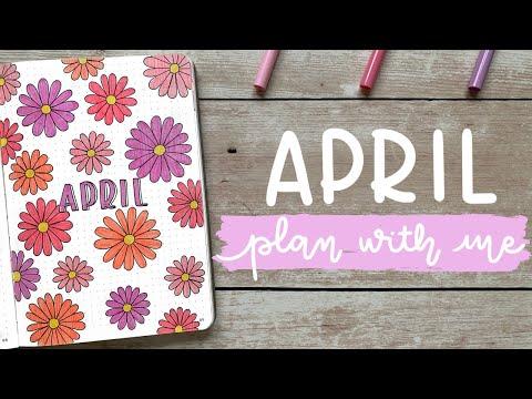 April 2020 Bullet Journal Setup | Plan With Me | BUJOANDCOOKIES