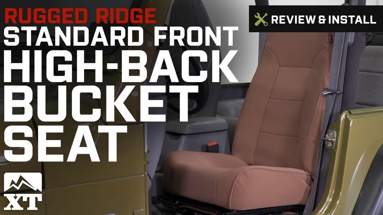 Rugged Ridge 13401.01 Standard Black High Back Front Seat