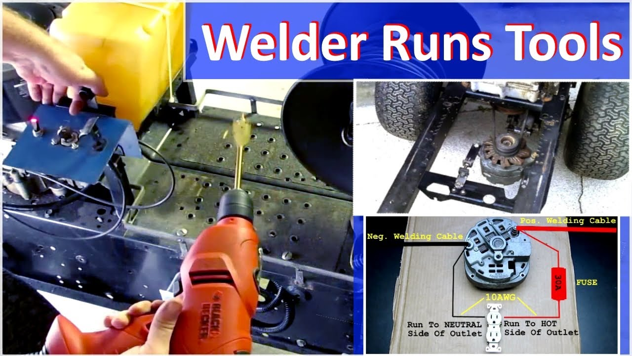 Alternator Welder Runs 120v Power Tools - How To on
