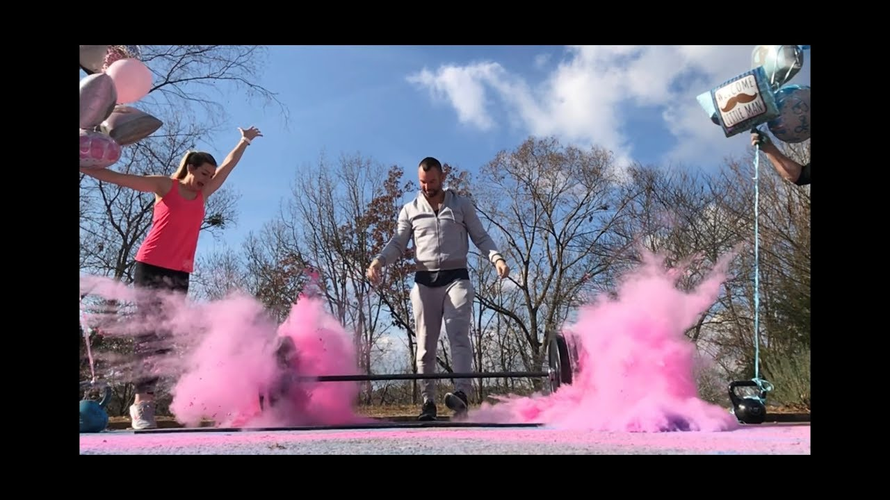 Epic Crossfit Style Gender Reveal Creative New Unique Gender Reveals For Fitness And Gym