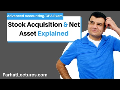 Net Asset and Stock Acquisitions - Consolidations | Advanced Accounting | CPA Exam FAR | Ch 1 P 1
