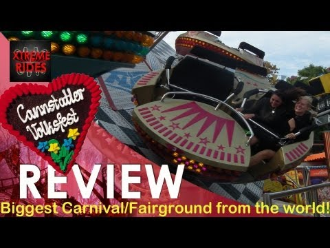 Review Biggest Carnival/Fairground of the world: Canstatter Wasen Stuttgart [ENGLISH VERSION]
