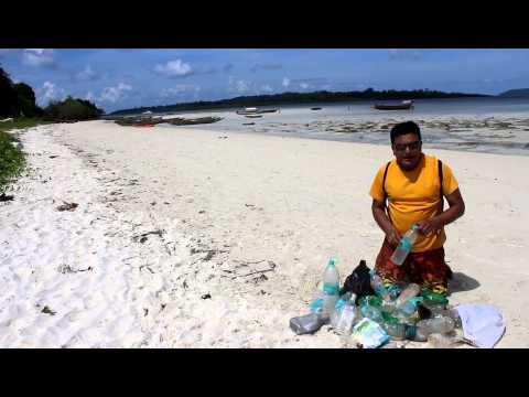 Bisleri Bottles Discarded On the Beach of Havelock Island, Andaman Island