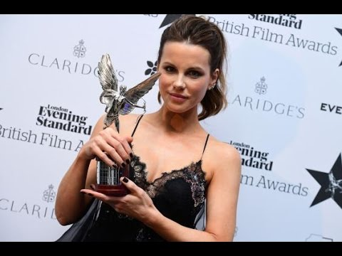 Kate Beckinsale wins Best Actress at the Evening Standard British Film Awards 2016