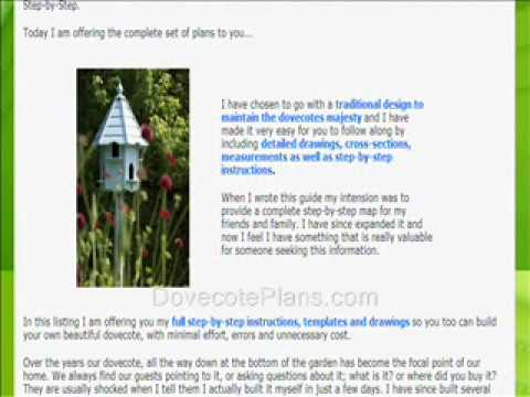 Dovecote Plans For An Easy To Build Dove Cote Youtube