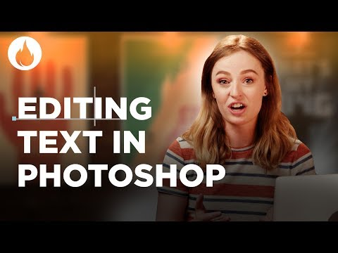 Editing Text In Photoshop