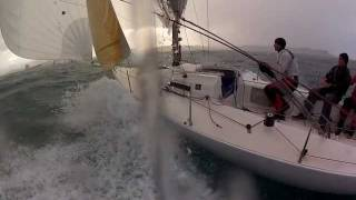 J80 ESP 880 - Fast Downwind sailing in Santander Recorder with Gopro