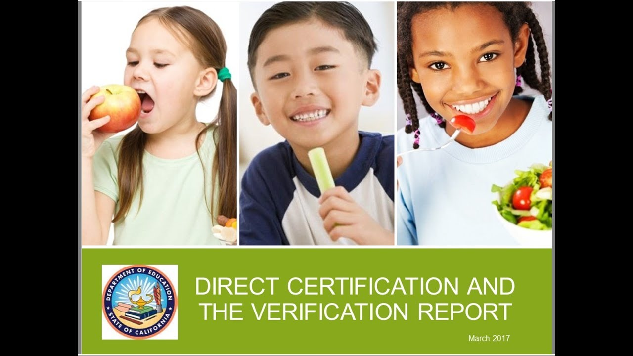 Direct certification and the verification collection report youtube direct certification and the verification collection report cde nutrition programs xflitez Images