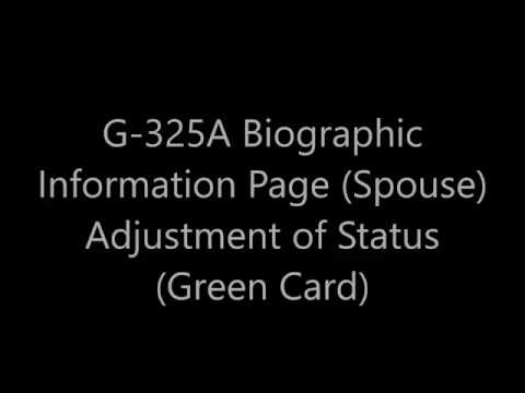G 325a Biographic Information Spouse Adjustment Of Status Green