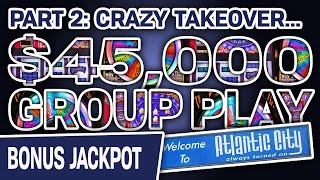 ✌ Part 2: $45,000 GROUP PLAY 🎡 Wheel of Fortune & Pinball Double Diamond SLOTS