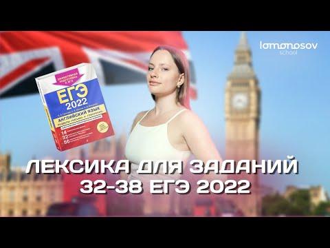 Лексика для заданий 32-38   ЕГЭ 2021 по английскому языку   Lomonosov School