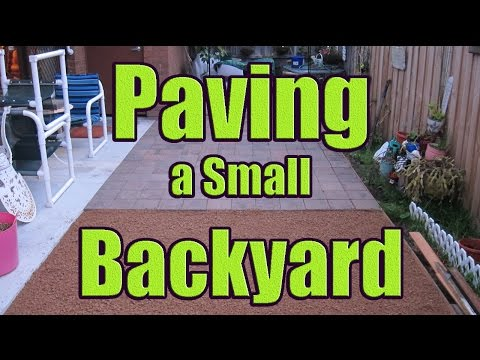 Laying Pavers on Sand or Gravel (Paving Backyard with DaznDi Properties)