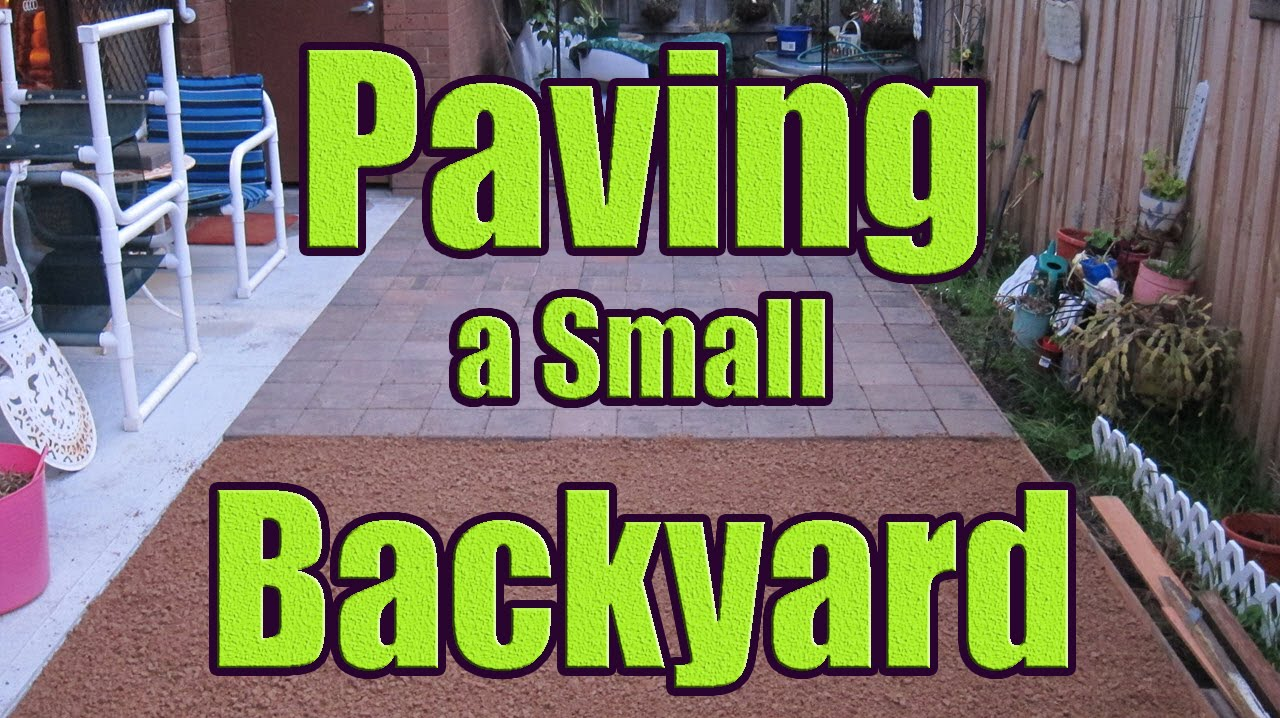 Laying Pavers On Sand Or Gravel Paving Backyard With