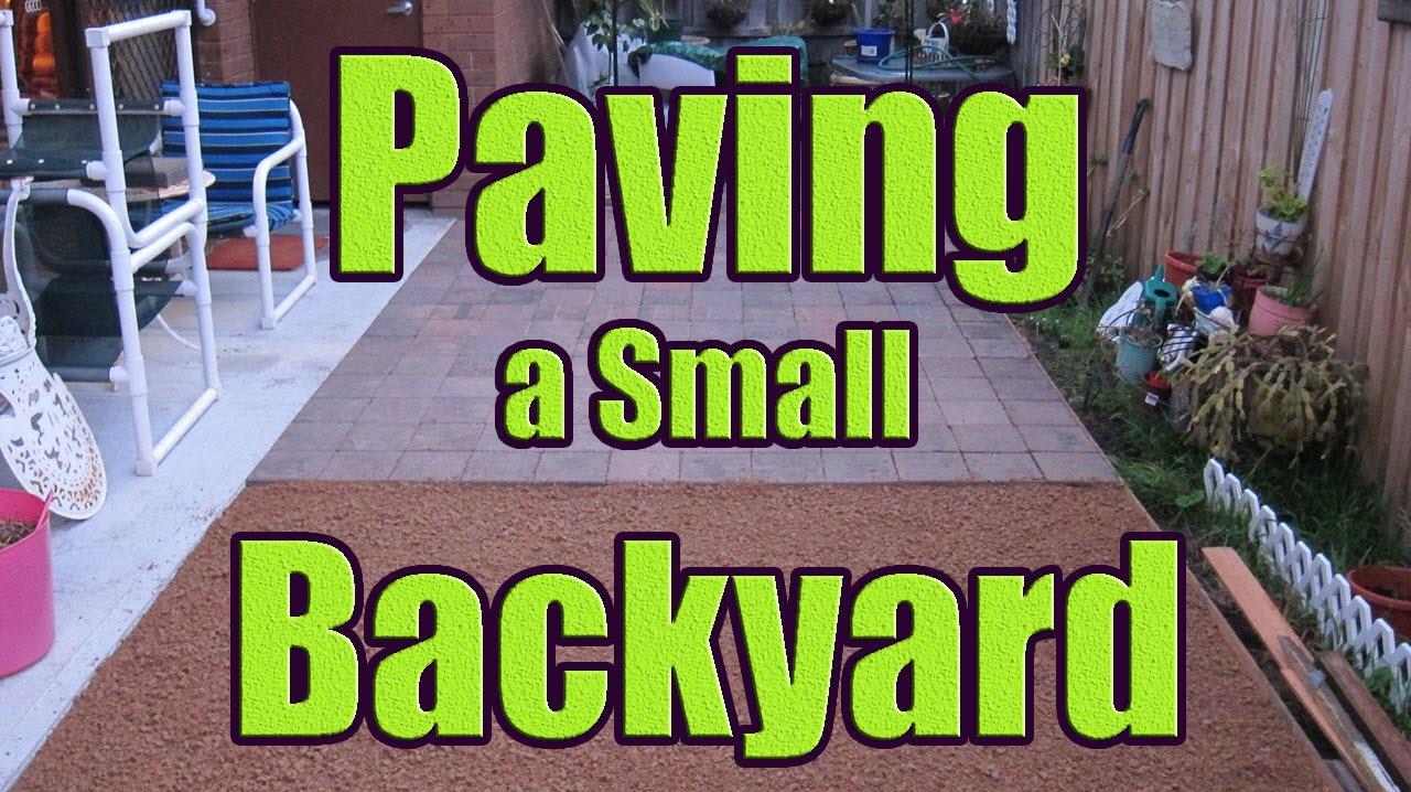Laying Pavers On Sand Or Gravel Paving Backyard With