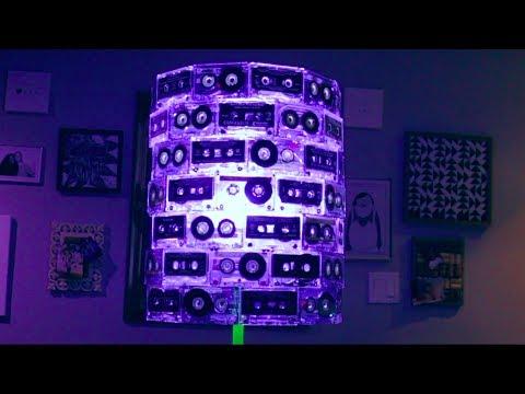 DIY cassette tape lampshade