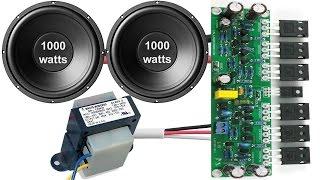 How to make home subwoofer amplifier (TDA 4935)