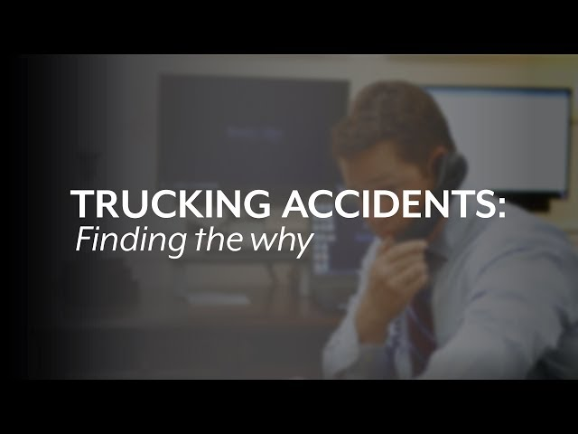 Chris Glover: Finding the why in a trucking accident