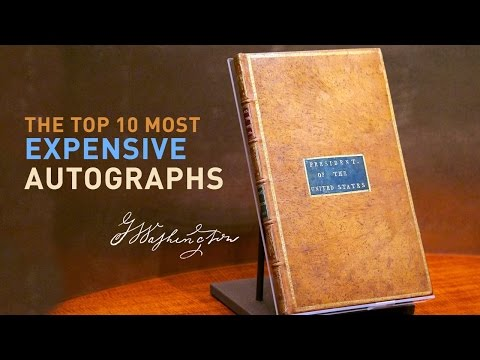 What is the Most Expensive Autographs - Top 10 Signatures