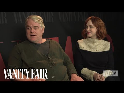 Christina Hendricks and Philip Seymour Hoffman on