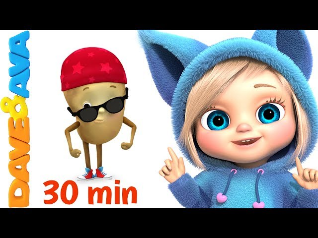 😀New Nursery Rhymes Collection | 30 minutes Compilation from Dave and Ava😀