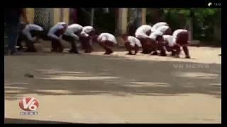 Teacher Suspended For Mass Punishment To Students In Muzaffarnagar  Telugu News