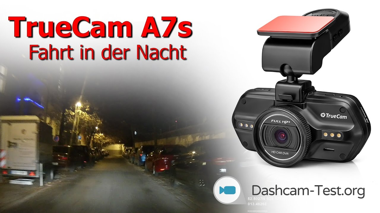 fahrt in der nacht truecam a7s dashcam autokamera hd. Black Bedroom Furniture Sets. Home Design Ideas
