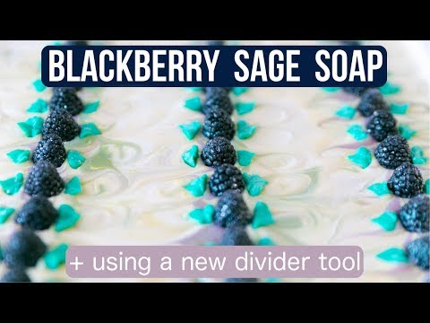 Blackberry Sage Artisan Soap w/ New Bar Divider | Royalty Soaps thumbnail