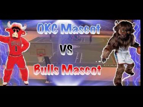 Thunder vs. Bulls Mascot! 2K17 Mascot Gameplay