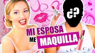 MI ESPOSA ME MAQUILLA !!!! ♥ | Katie Angel y El Oso