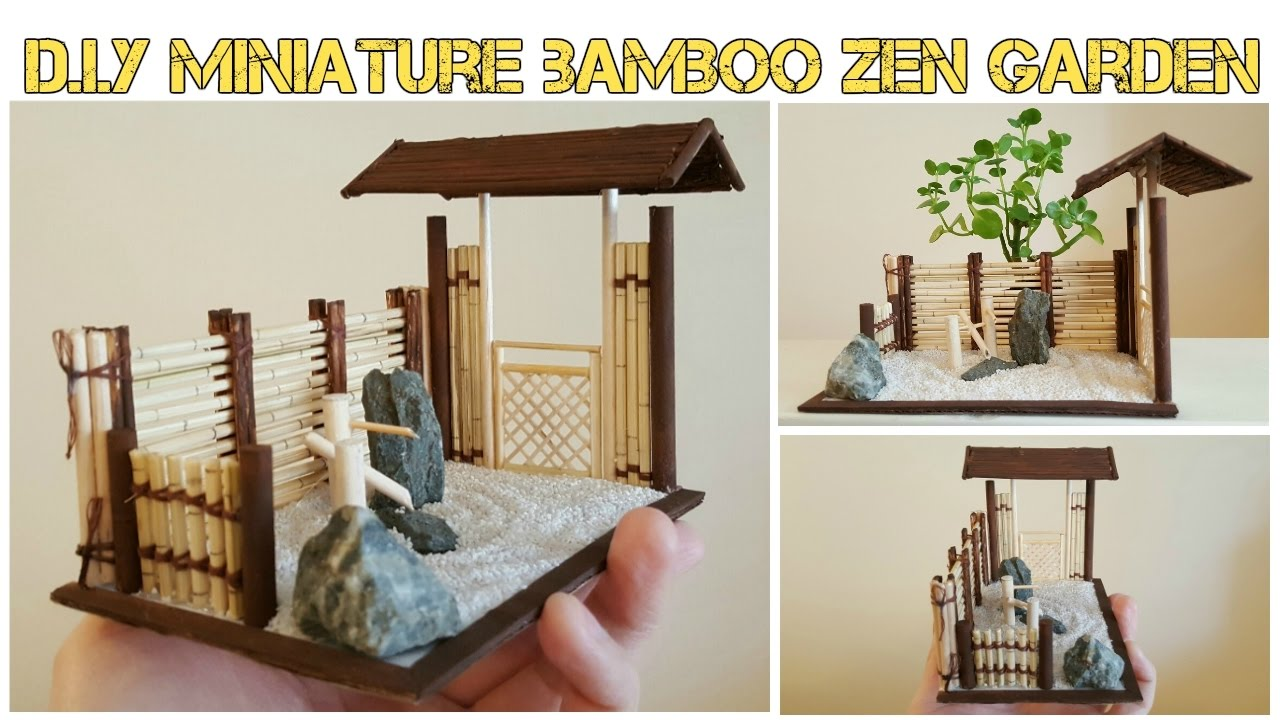Diy Mini Asian Bamboo Zen Garden Youtube