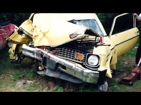 Death Of A 1974 Chevy Nova - Car Crash In Ontario Canada 1991