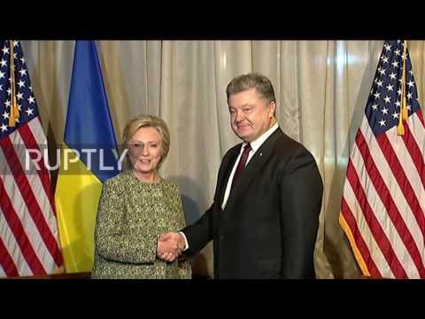 USA: Poroshenko thanks Hillary Clinton for support to Ukraine