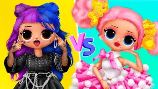 Sweet vs Punk Girl / 12 DIY LOL Surprise Ideas