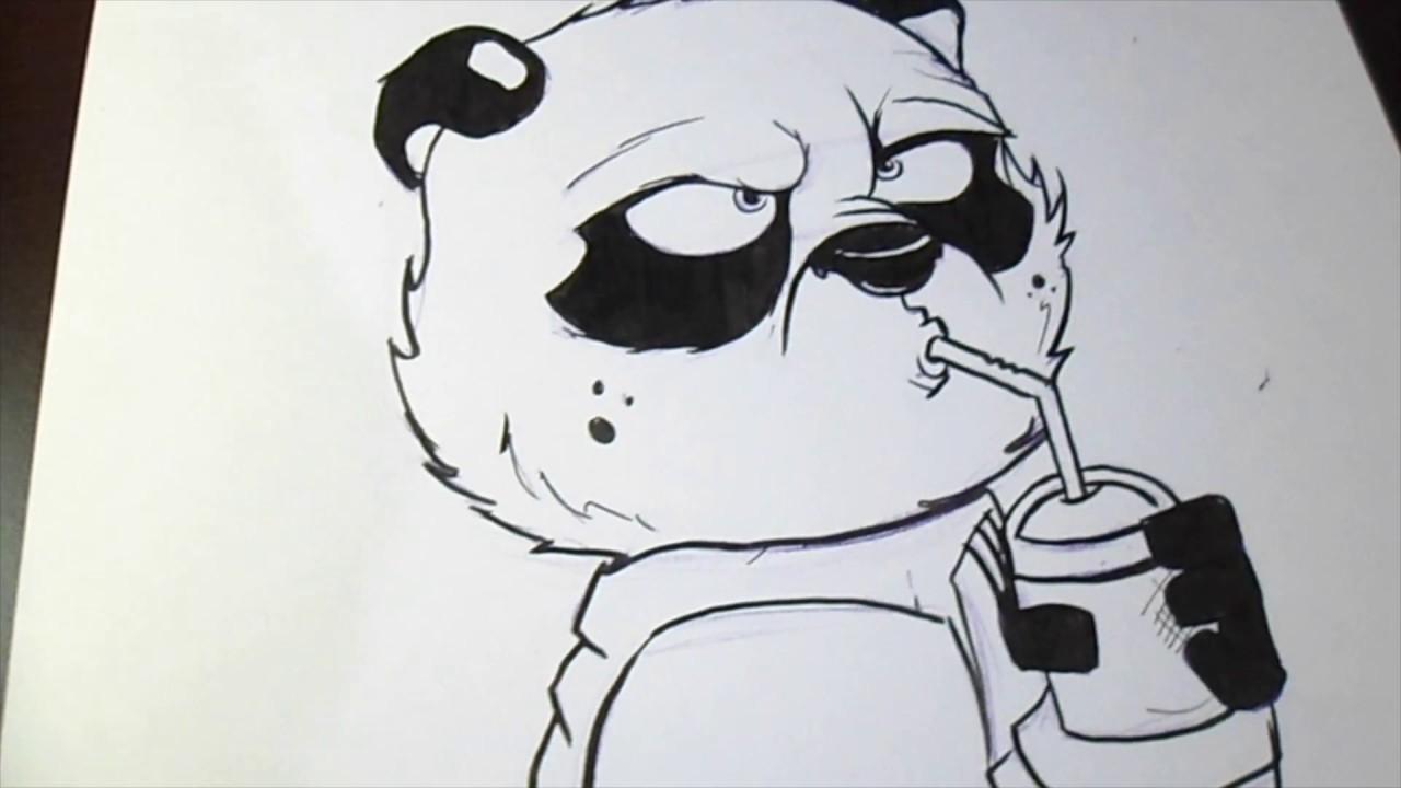 660 Koleksi Gambar Hitam Putih Panda HD
