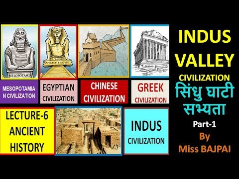 Lecture-6 Great Civilizations of World (Indus Civilization-Part-1)(Eng+Hindi)