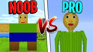 Minecraft NOOB vs. PRO: BALDI'S BASICS in Minecraft!