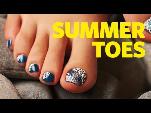 toenail art chrome design