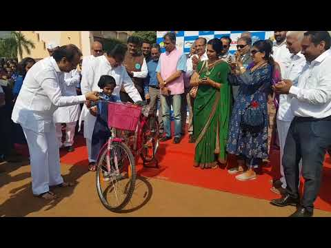 The first project of India in Maharashtra Bicycle distribution by pawar