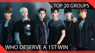 Top 20 KPOP Groups Who Deserve a 1st Win
