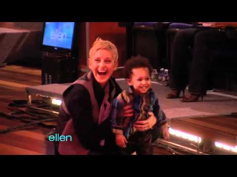Ellen Plays Around with Baby David