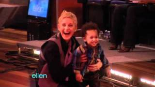 Ellen Plays Around with Baby David