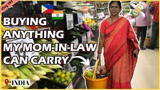 BUYING ANYTHING MY MOM-IN-LAW CAN CARRY II Filipino Indian Family Vlog # 193