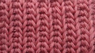 Имитация резинки крючком Тунисская резинка Вязание крючком  47