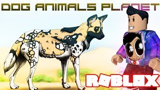 WILD DOGS LETS PLAY! Animal Planet- (Roblox How To Roleplay Family Friendly Clean Videos For Kids)