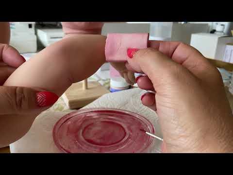 6 МК Реборнинг урок ручки ножки покраснение и красные места  Olga Kirchgessner