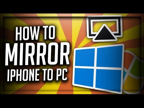 How To Mirror iPhone To PC Without Downloading Any Software To PC.