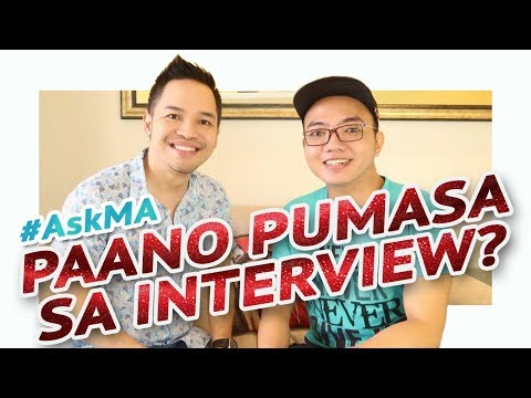 PAANO PUMASA SA JOB INTERVIEW? 💼 #AskMA ft. Myke Celis