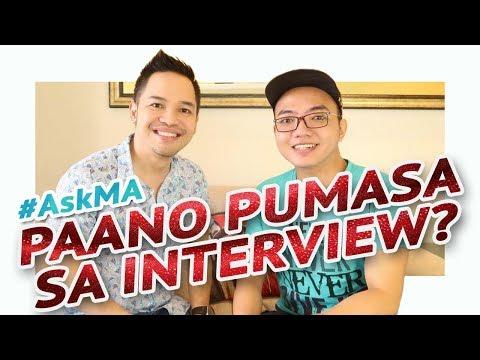 PAANO PUMASA SA JOB INTERVIEW? 💼 #AskMA Ft. Myke Celis