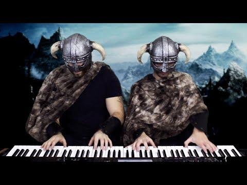 "SKYRIM - Main Theme (""Dragonborn"") | Frank & Zach Piano Duets thumbnail"